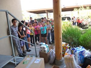 Groceries for the Nuns! - from the children here in Tonopah preparing for First Communion and Confirmation