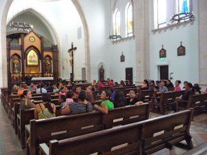 Visitors enjoying the Chapel