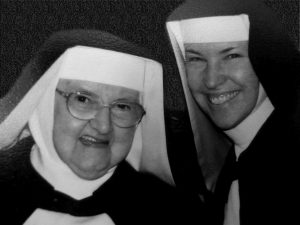 Rev. Mother Marie Andre with Mother Angelica, 2002