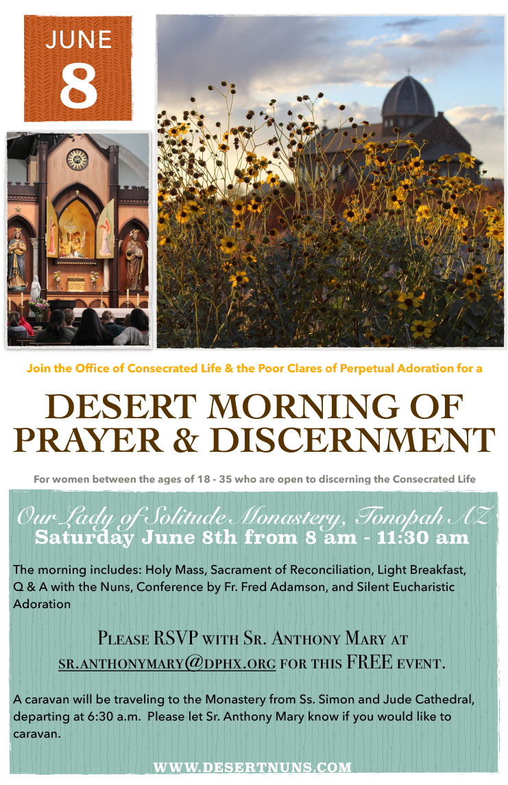 Desert Nuns – We are Poor Clare Nuns of Perpetual Adoration